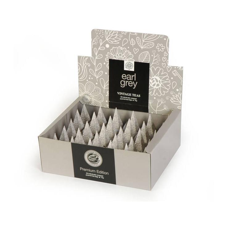 Earl Grey 30 Individually Wrapped Pyramid Box