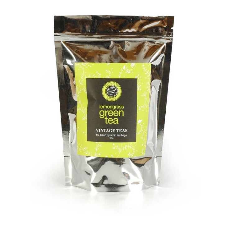 Green Tea Lemongrass, 50 Pyramid Tea Bags
