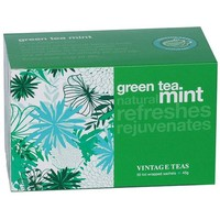 """Spring Special"" Green Tea Mint - 30 Envelope Teabags"