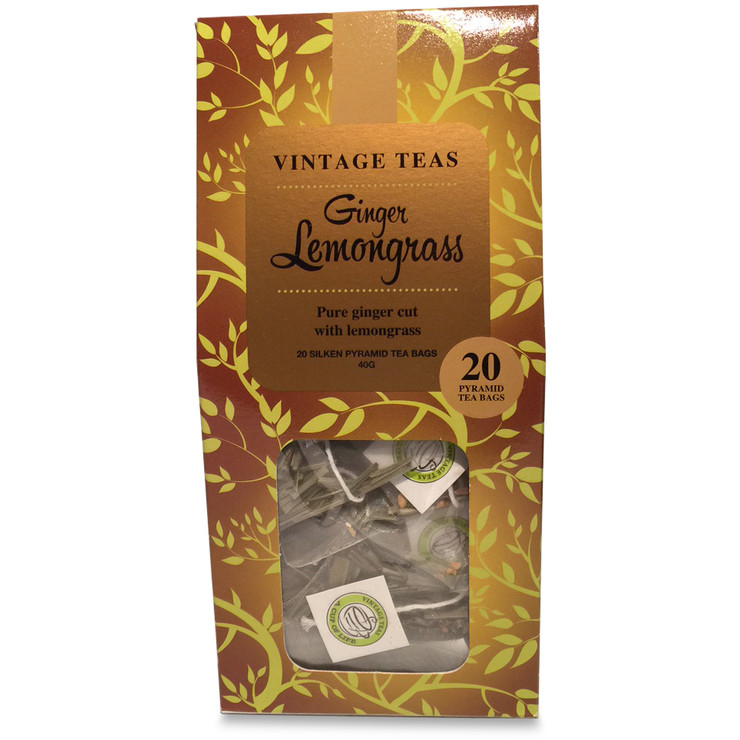 Ginger Lemongrass 20 Pyramid Tea Bags